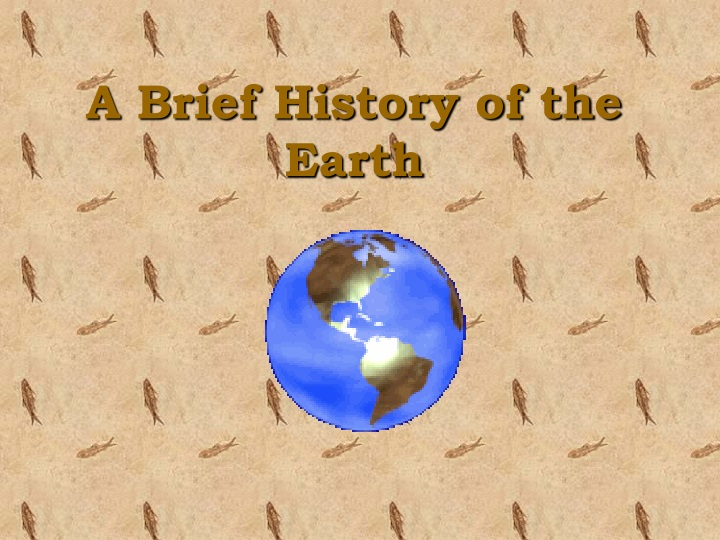 a brief history of the earth n.