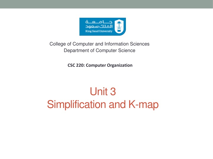 unit 3 simplification and k map n.