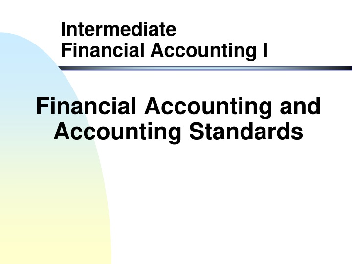 financial accounting and accounting standards n.