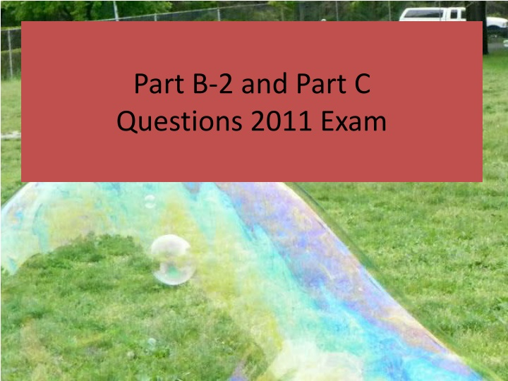 part b 2 and part c questions 2011 exam n.