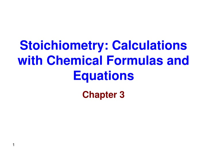 stoichiometry calculations with chemical formulas and equations n.