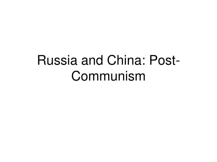 russia and china post communism n.