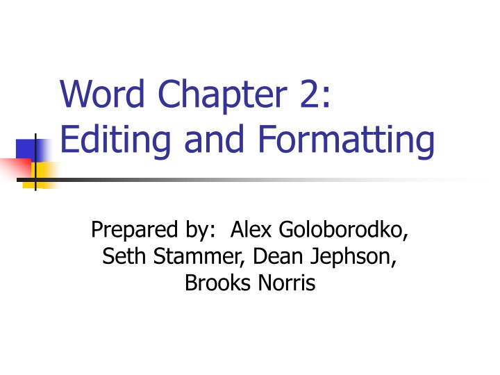 word chapter 2 editing and formatting n.