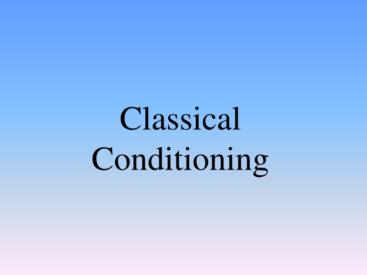 classical conditioning n.