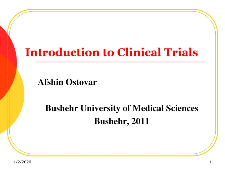 introduction to clinical trials n.