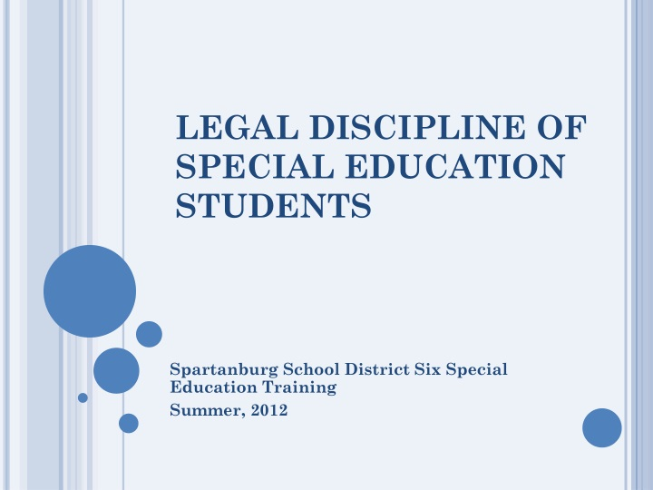 legal discipline of special education students n.
