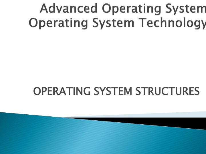 advanced operating system operating system technology n.