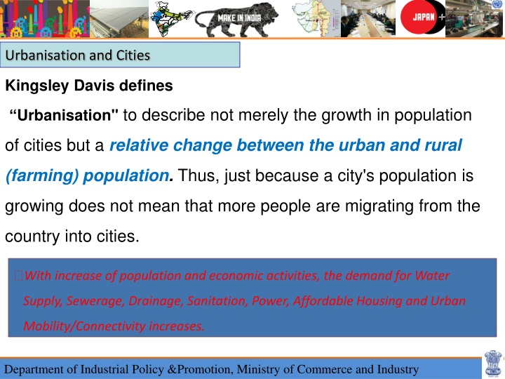 urbanisation and cities n.