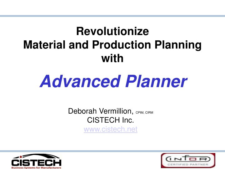 revolutionize material and production planning with advanced planner n.
