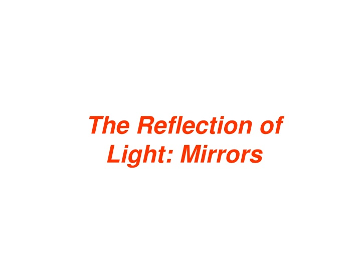the reflection of light mirrors n.