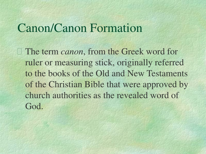 canon canon formation n.