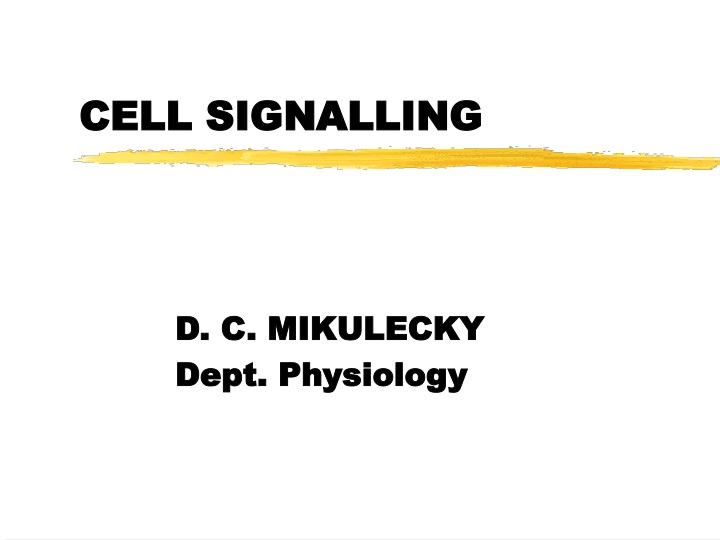 cell signalling n.