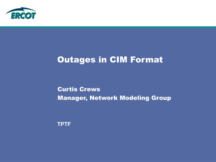 outages in cim format n.