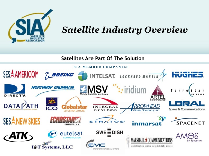 satellite industry overview n.