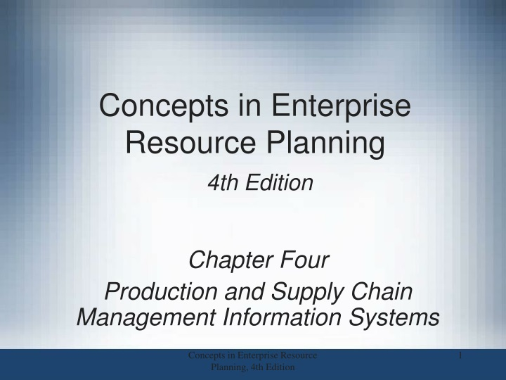 concepts in enterprise resource planning 4th edition n.