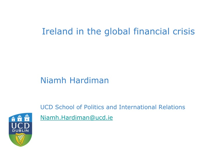 ireland in the global financial crisis n.