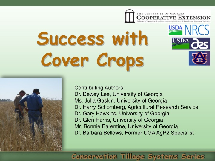success with cover crops n.