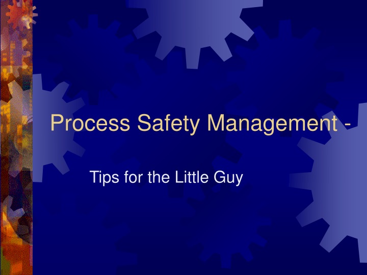 process safety management n.