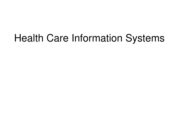 health care information systems n.