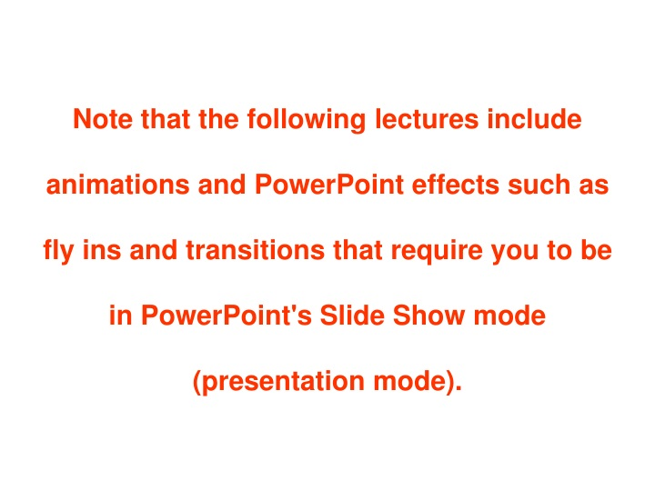 note that the following lectures include n.