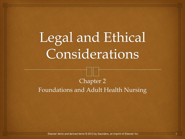 legal and ethical considerations n.