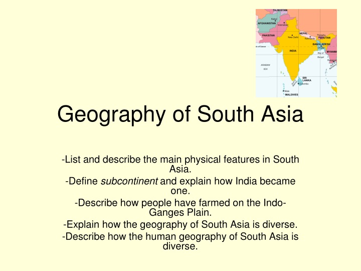 geography of south asia n.
