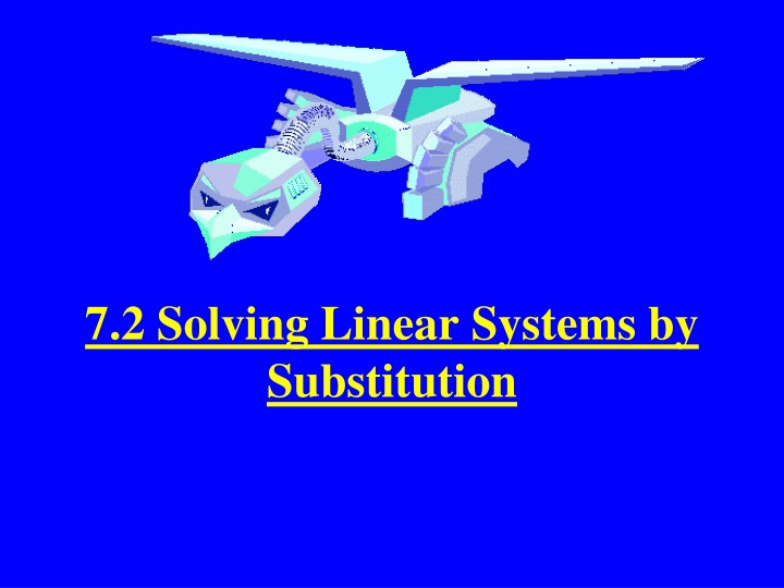 7 2 solving linear systems by substitution n.