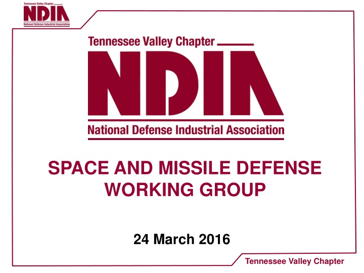 space and missile defense working group n.