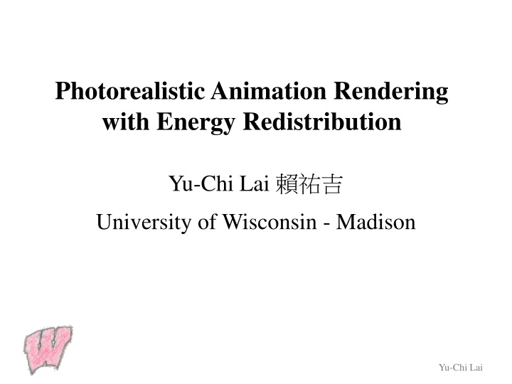 photorealistic animation rendering with energy redistribution n.