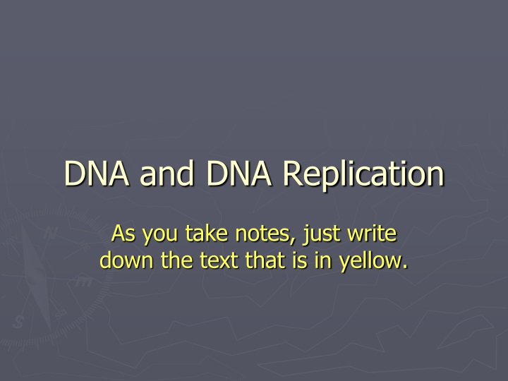 dna and dna replication n.
