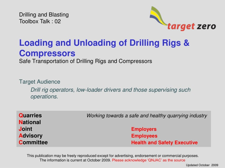 loading and unloading of drilling rigs compressors n.