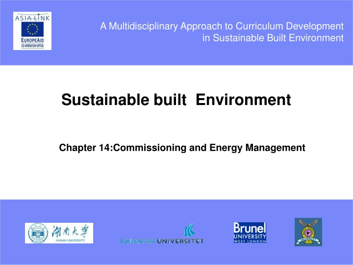 sustainable built environment n.