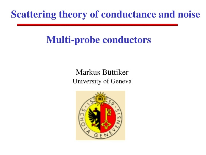 scattering theory of conductance and noise n.