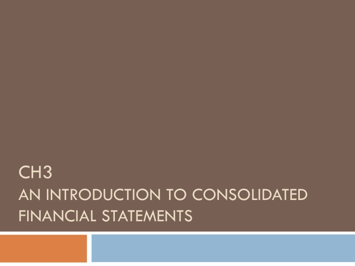ch3 an introduction to consolidated financial statements n.