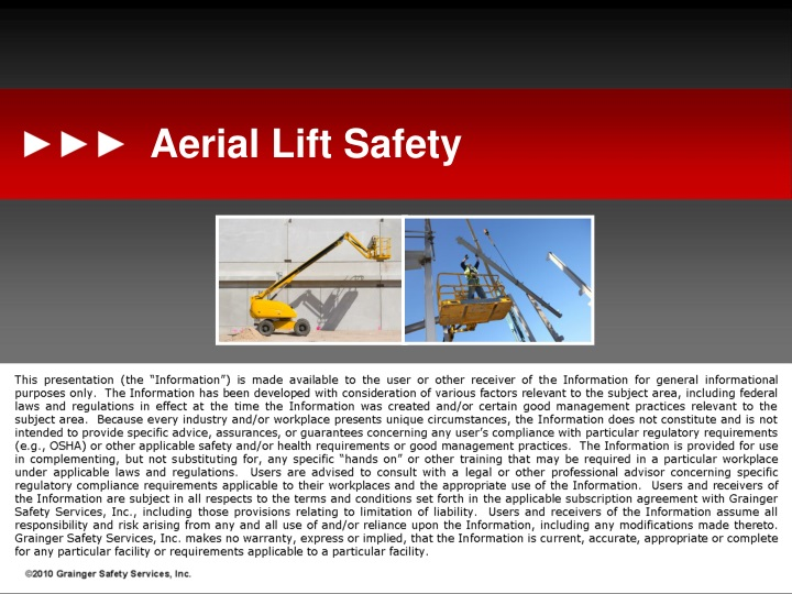 aerial lift safety n.