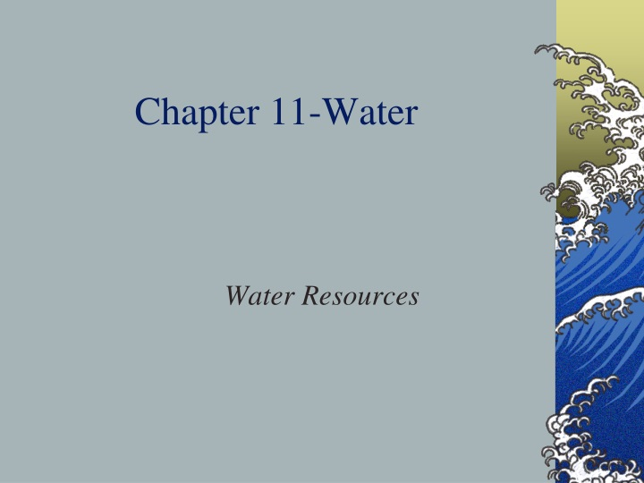 chapter 11 water n.