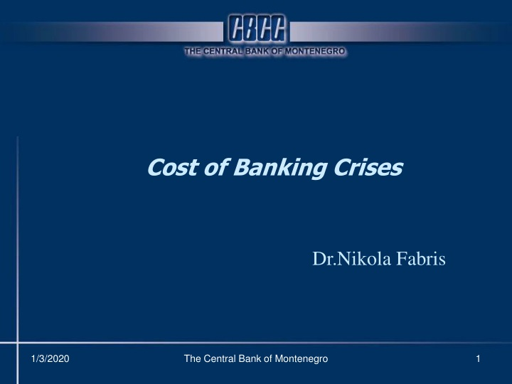 cost of banking crises n.