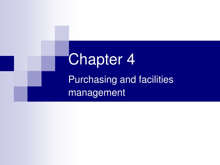 chapter 4 purchasing and facilities management n.