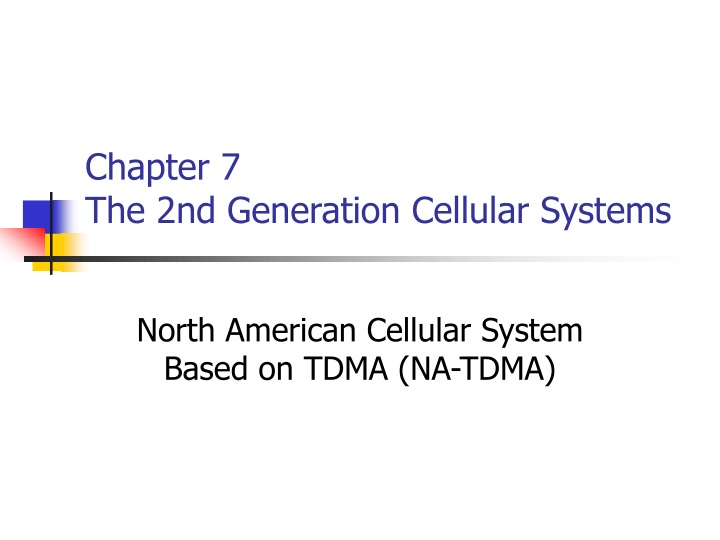chapter 7 the 2nd generation cellular systems n.