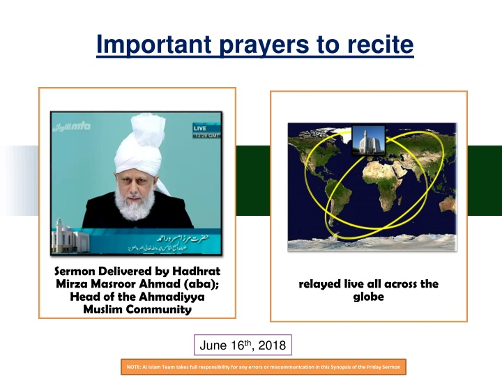 important prayers to recite n.