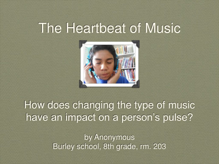 the heartbeat of music how does changing the type n.