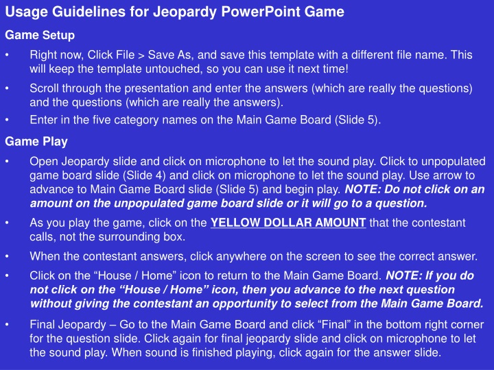 usage guidelines for jeopardy powerpoint game n.