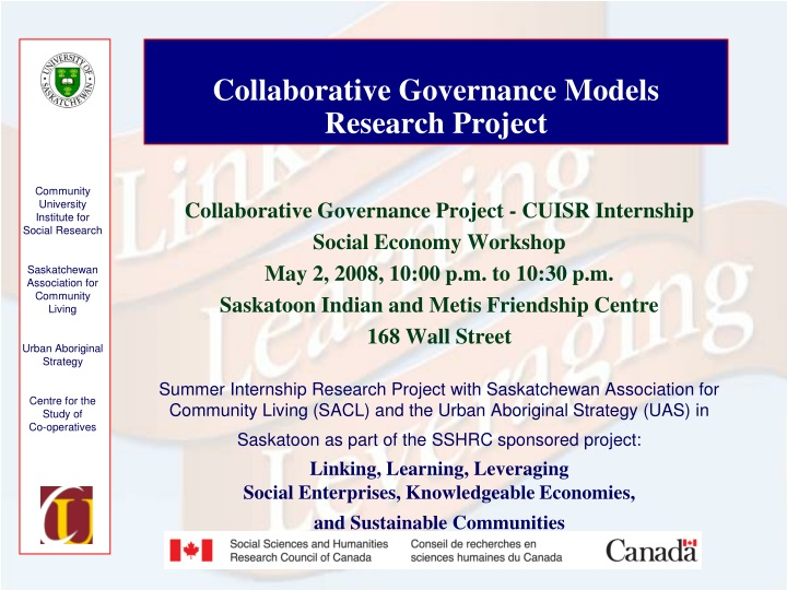 collaborative governance models research project n.