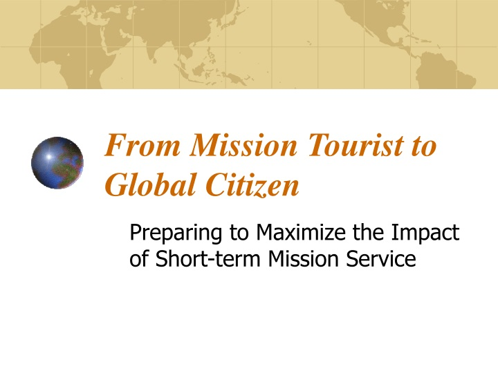 from mission tourist to global citizen n.