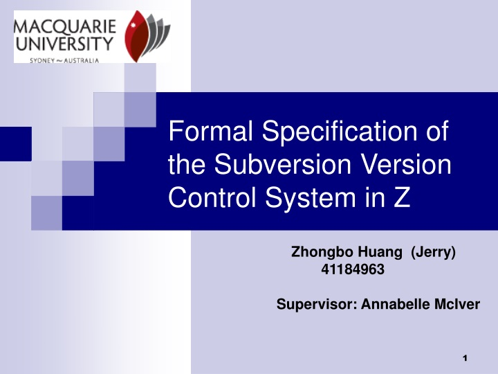 formal specification of the subversion version control system in z n.