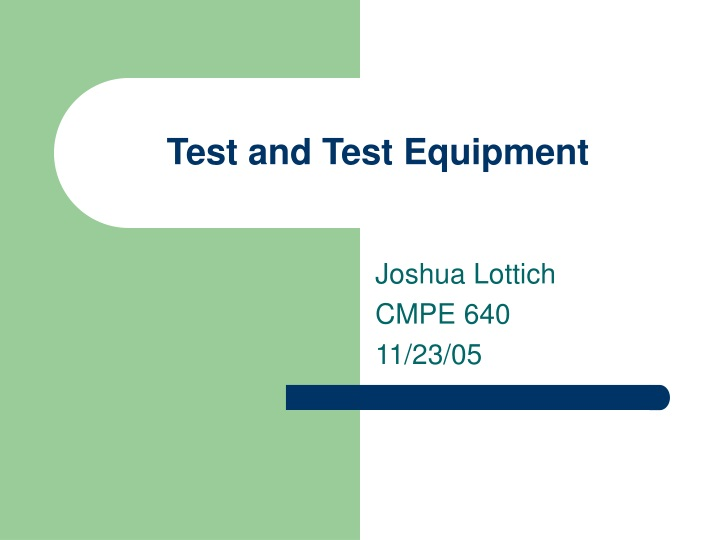 test and test equipment n.