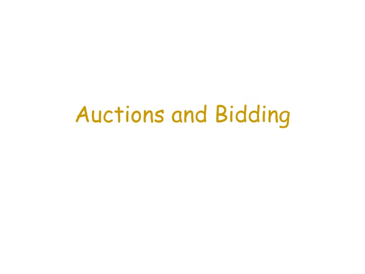 auctions and bidding n.