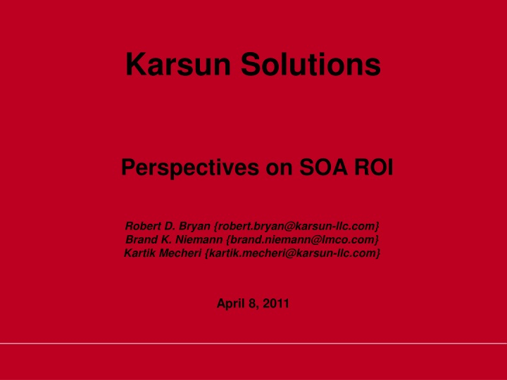 perspectives on soa roi n.