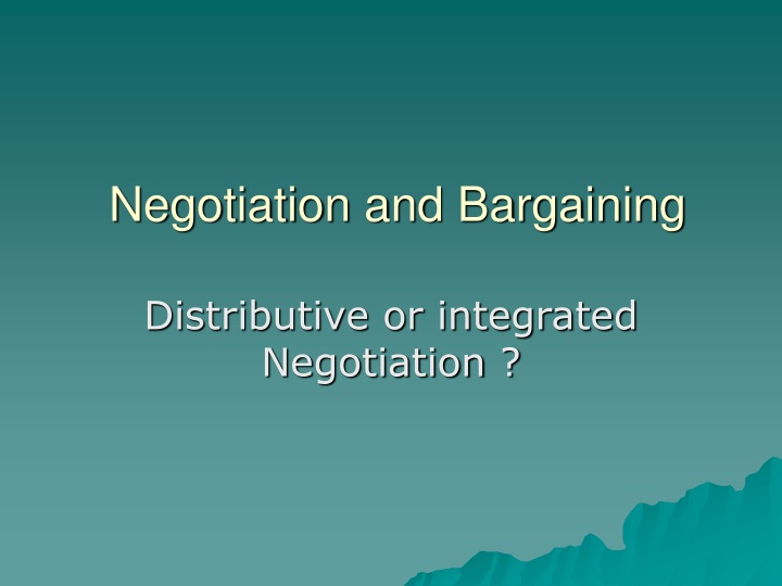 negotiation and bargaining n.