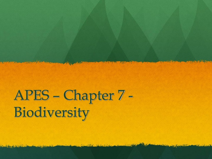 apes chapter 7 biodiversity n.